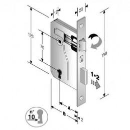 Serratura Patent Mm 8x70...
